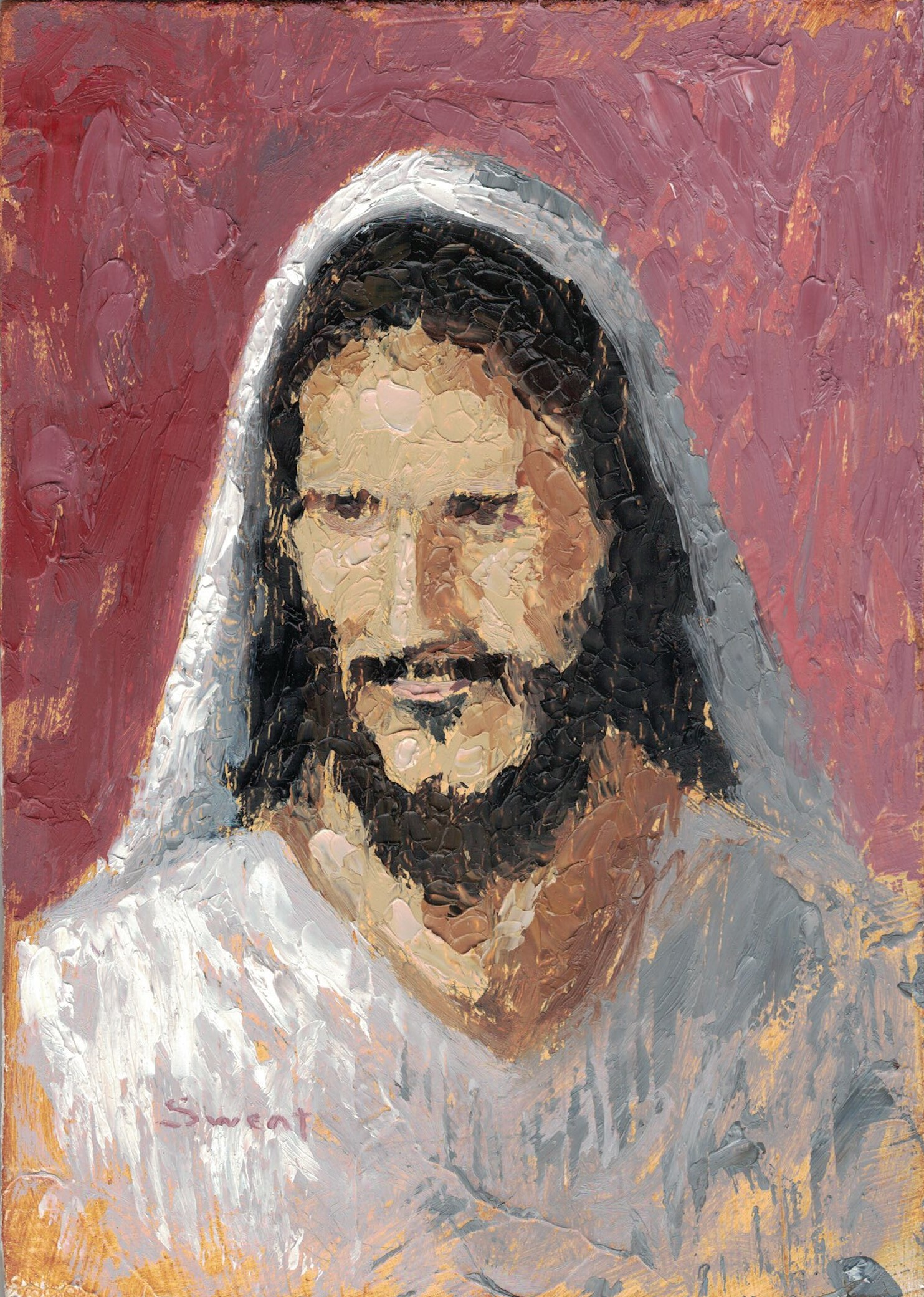 Man of Patience Jesus Christ painting by Anthony Sweat