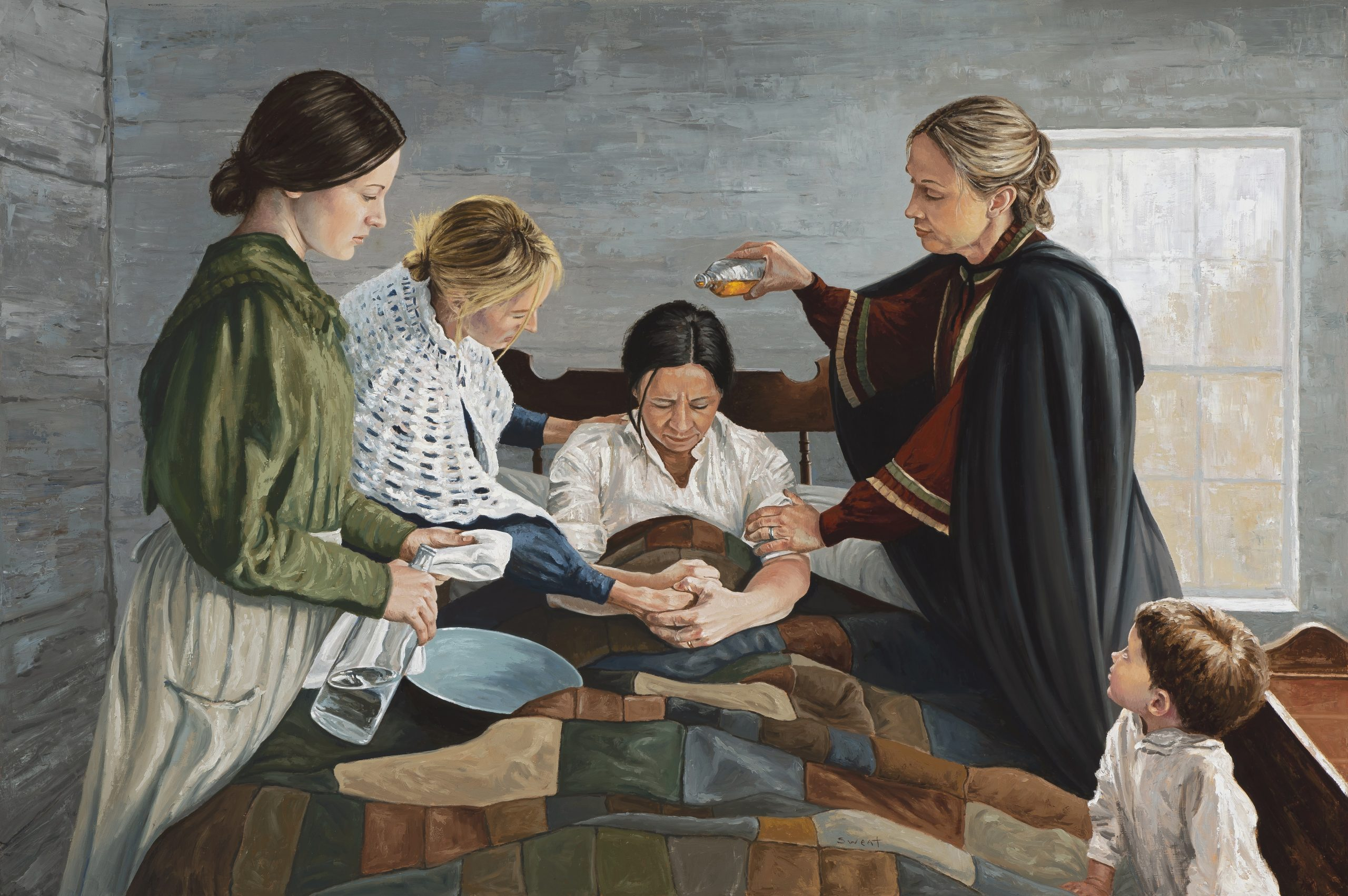Female Healing Mormonism Relief Society by Anthony Sweat
