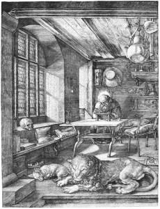 Albrecht Dürer, Hieronymus im Gehäuse, 1514