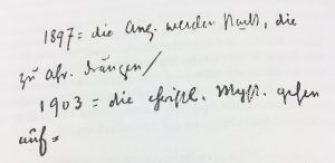 Steiner, Notizbucheintrag 1924