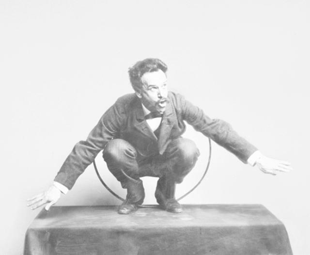 Franz Boas posing