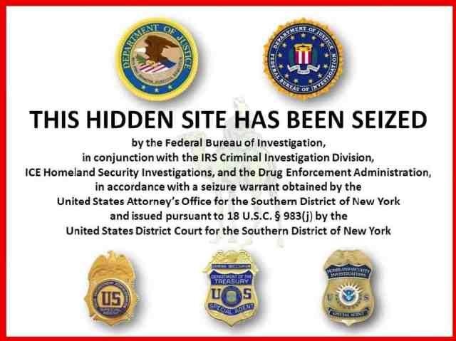 FBI site seizure notice