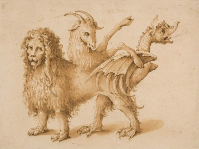 A Chimera painting