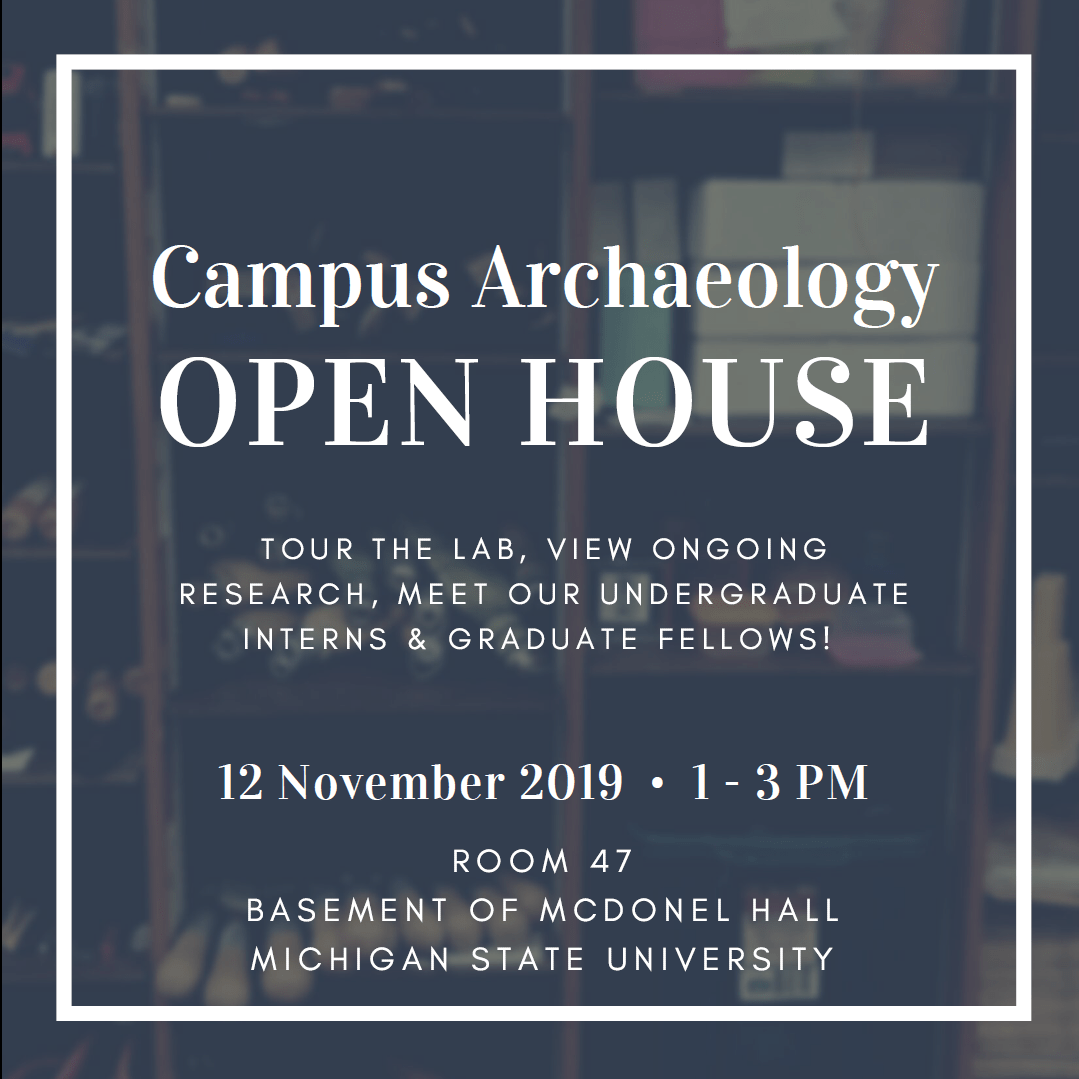 Campus Archaeology Open House 2019