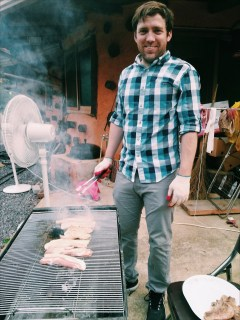 Eddie Glayzer barbequing