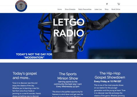 Media & Interviews. LetGoRadio interview screenshot