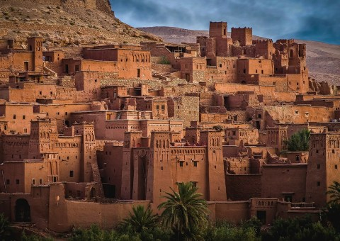 Anthropology articles. A red Moroccan village.