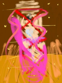 This is a quick abstract doodle of a ballerina