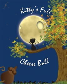My children's book cover. I made up a story about a cat's first time seeing the moon and thinking it's made of cheese. He befriended a mouse, and the mouse wanted cheese, so the cat wanted to give his new friend a piece of cheese from the moon.