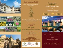 Brochure for French tour hosted by Wine Tours Inc.