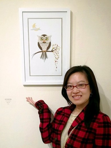 I am very grateful to have my illustration admitted into the exhibition!
