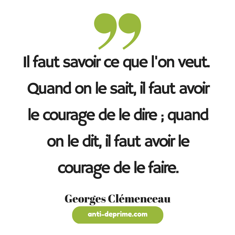 Motivation par georges cl menceau il faut savoir ce que for Quand faut il tailler l olivier
