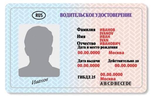ВУ нового образца   Автомобильный блог Казани