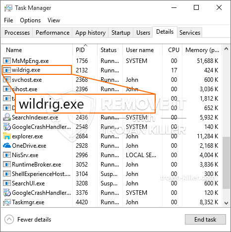remove Wildrig.exe