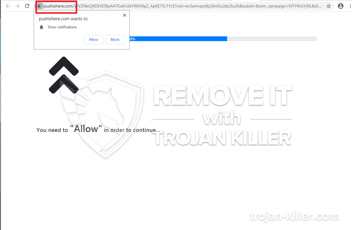 remove Pushisback.com