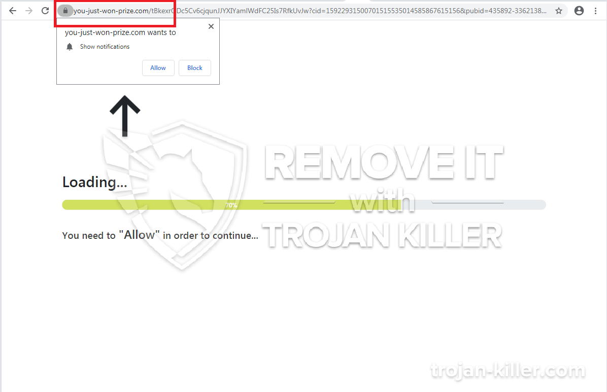 remove You-just-won-prize.com