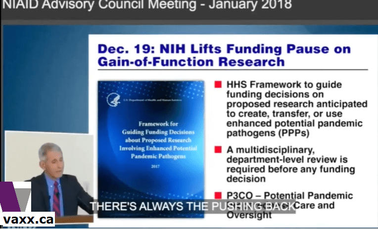 anthony,fauci,nih,national,institute,health,gain-of-function research,proof,funding,covid 19,virus,sars,pathogen,contagious,dose