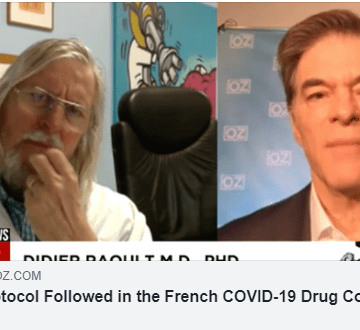 covid treatment plaquenil doctor oz study french azythromyacin