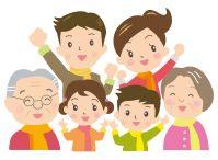 長命草(サクナ)の抗酸化力で元気になる家族のイラスト