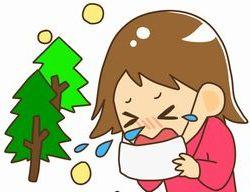 花粉症でくしゃみをする女性のイラスト