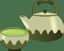 テアニンを含むお茶のイラスト