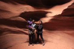 Arizona, Antelope Canyons, Travel, Family, Asha, Arjun, Family Photo
