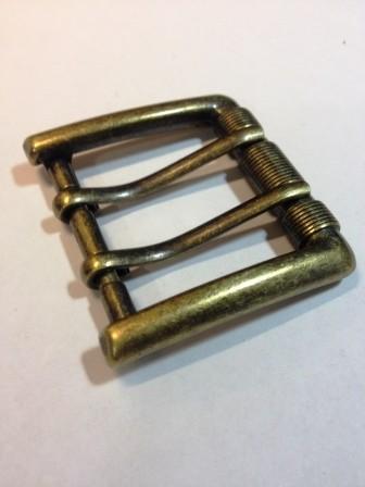 Пряжка для ремня с двумя язычками для ремня шириной 40 мм | 220р. | 2