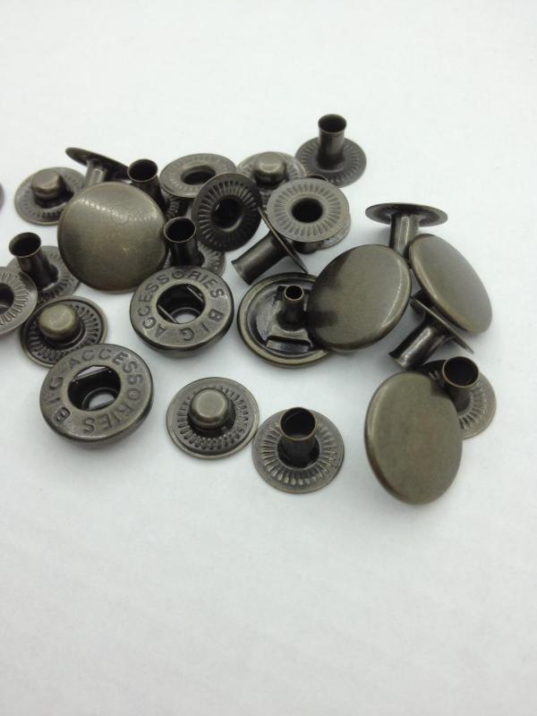 Кнопка альфа 15 мм Фурнитура для сумок и кошельков