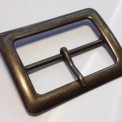 Пряжка 50 мм старая латунь