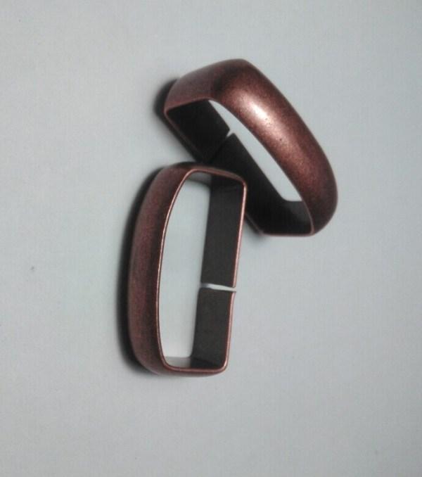Шлевка для ремня 35 мм старая медь