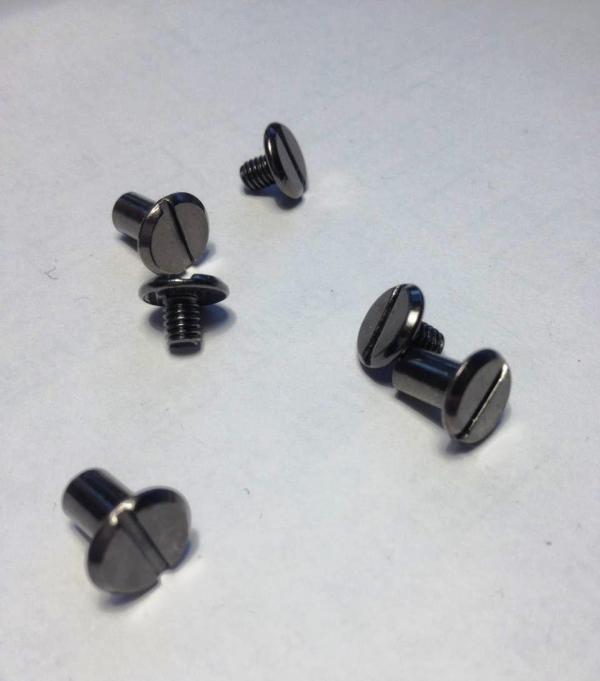 Винты для ремня 8 мм черный никель