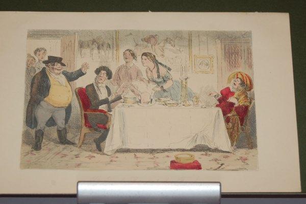1854 John Leech Engraving Mr Jorrocks returns to his family