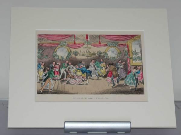 Henry Alken 1874 Print, mounted, Mr Jorrocks Makes a Faux Paux.