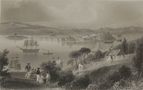 1860 Engraving The Cove of Cork