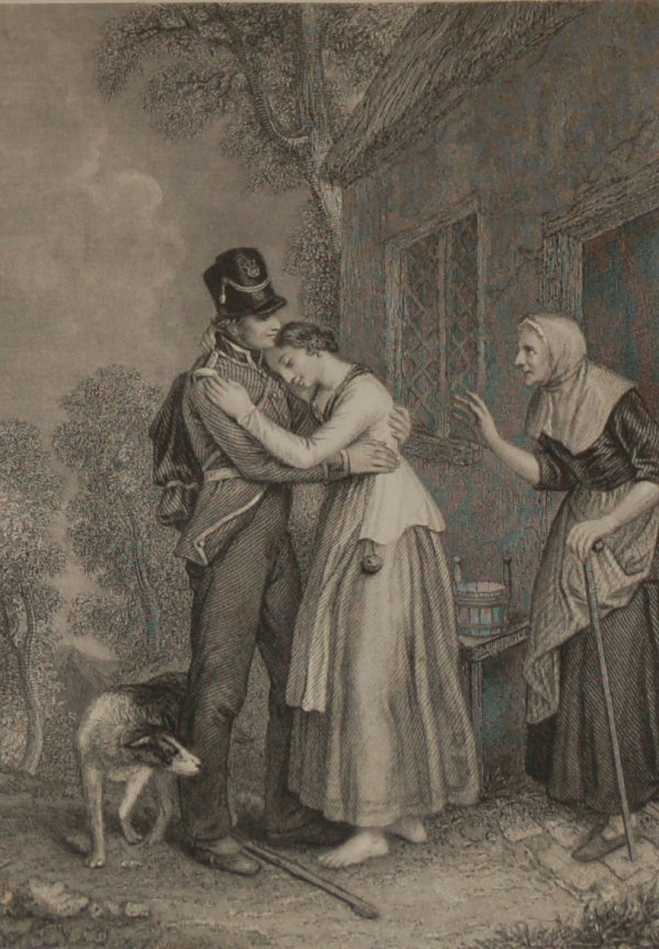 the poor and honest sodger 1840 antique engraving