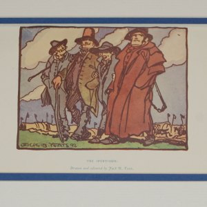 An antique Jack B Yeats Print for Sale, The Sportsmen from 1912
