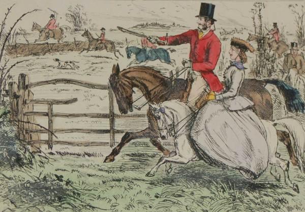 John Leech Antique Print Rosa and the Earl 1898