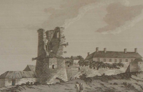 1797 Antique Print of Arklow Castle in County Wicklow. The castle was built by Theobald Walter who are the ancestors of the Earls of Ormonde.