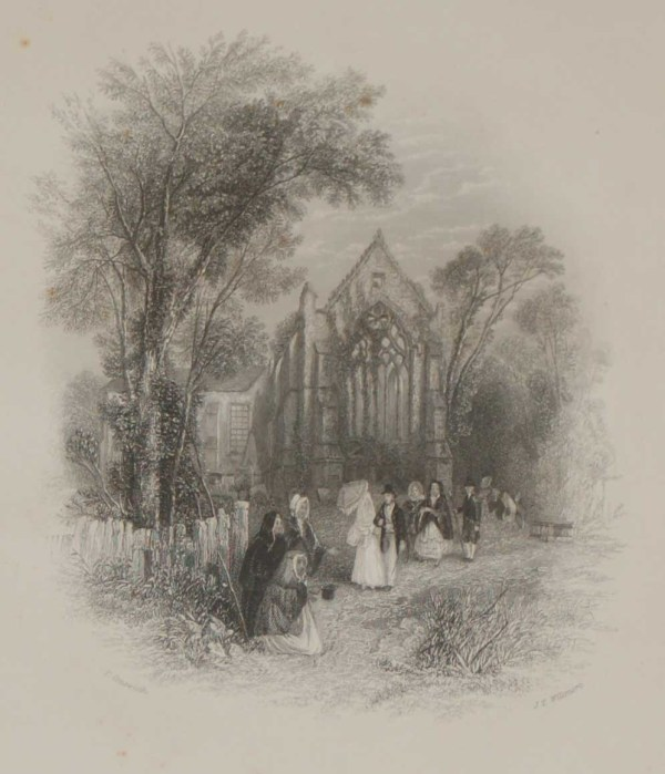1837 Youghal Church, County Cork, Ireland, antique prints