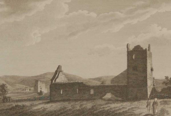 1797 Antique Print Abbey of Aghamatart Laois Ireland