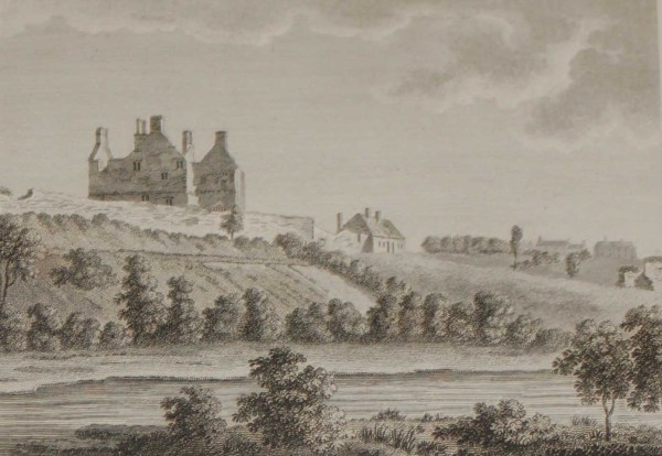 1797 Antique Print a copper plate engraving of Dromahair Castle in County Leitrim, Ireland