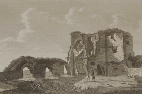 1797 Antique Print of the Tower of Ballintuber in County Mayo, Ireland. Saint Patrick is said to have founded a church in Ballintuber.