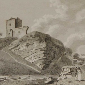 1797 Antique Print a copper plate engraving of Nawl Castle in County Westmeath, Ireland.