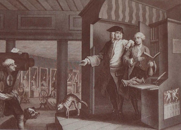 Antique print Wiiliam hogarth Plate 4 industry and idleness