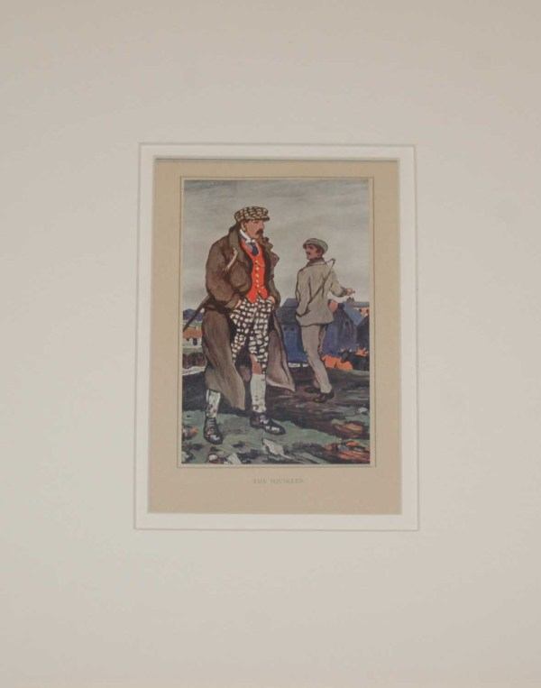 Jack B Yeats The Squireen An antique print after Jack B Yeats from 1913 published by T & N Foulis, London
