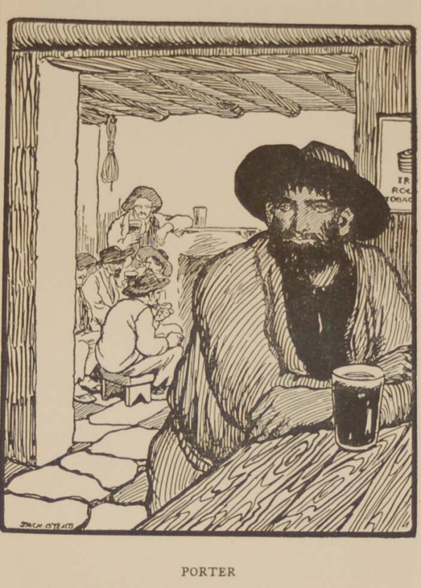 Jack B Yeats Porter a print after Jack B Yeats from 1907 published by Maunsel and Company in Dublin.