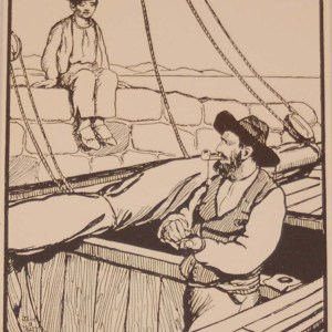 Jack B Yeats The Hooker's Owner a print after Jack B Yeats from 1907 published by Maunsel and Company in Dublin.