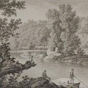 Aquatint from 1817 by the famous Austrian engraver Benedict Piringer, titled, Vue des lords de la Sévre, dans le Bois de la Garenne á Clisson