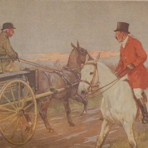 Vintage 1935 colour print by G D Armour ( George Denholm Armour 1864 to 1949), the print is titled Plate XVII- Modern Sport