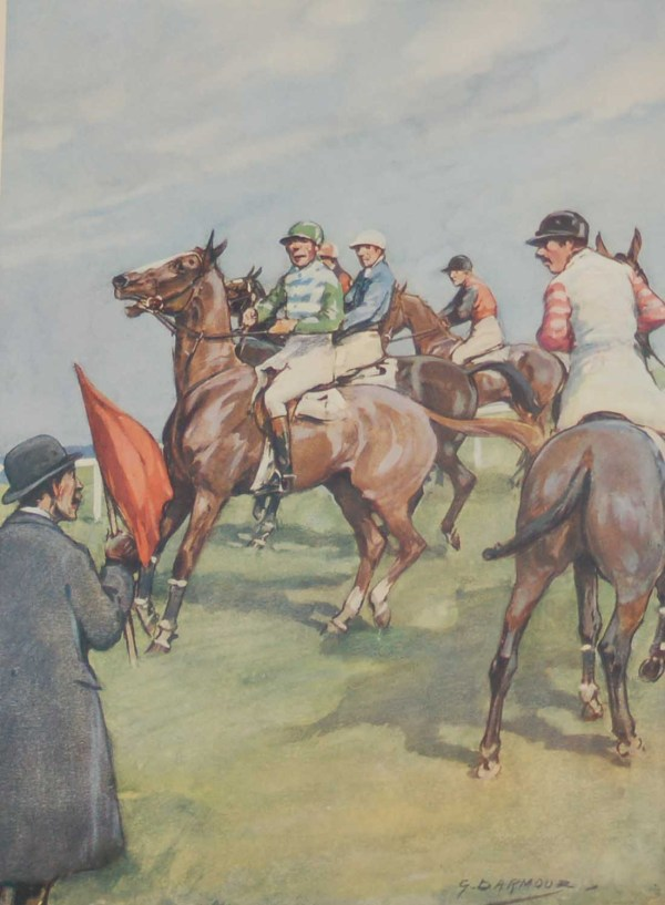 Plate XIII- G D Armour 1935 Vintage Print Steeple Chasing in Ireland